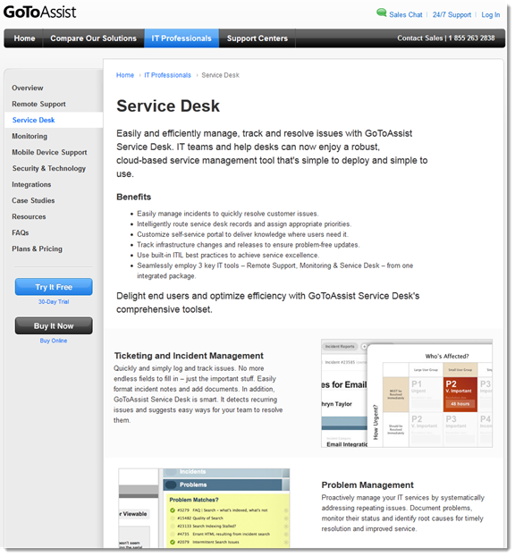 GoToAssist Service Desk Is A Service Management Module, Which Technicians  Can Integrate With Remote Support And/or Monitoring While Using All 3 Tools  From ... Pictures Gallery