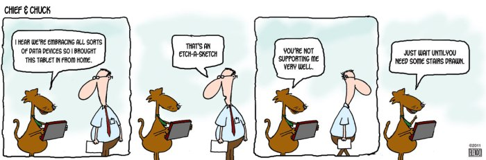 Cartoon courtesy of Flickr and ca technologies