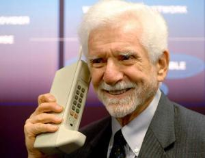 Yes, his cell phone is bigger than yours -- Martin Cooper, cell phone inventor,  in 1973